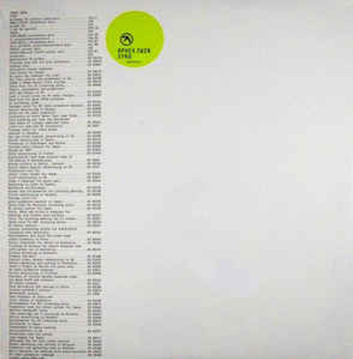 Aphex Twin ‎– Syro - 3LP *NEW*