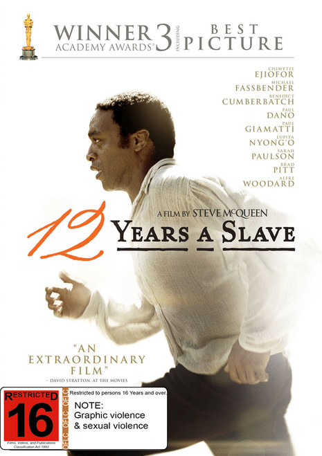 12 Years A Slave - DVD *NEW*