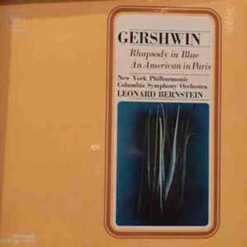 Gershwin* - Columbia Symphony Orchestra, New York Philharmonic*, Leonard Bernstein – Rhapsody In Blue / An American In Paris (FRANCE) - LP *USED*