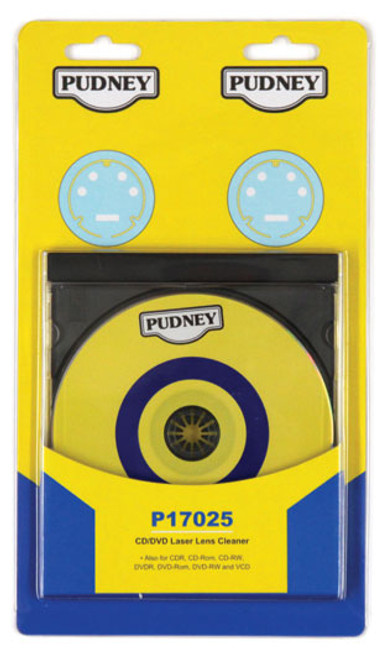 PUDNEY CD/DVD 6 BRUSH LASER LENS CLEANER