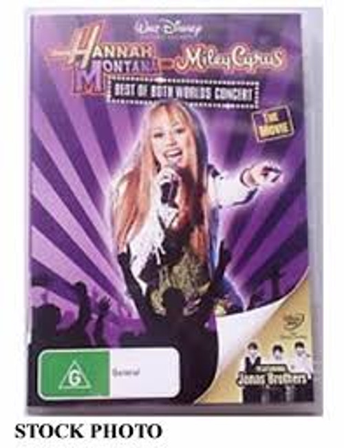 Hannah Montana and Miley Cyrus Best of Both Worlds Concert Tour - DVD *NEW*