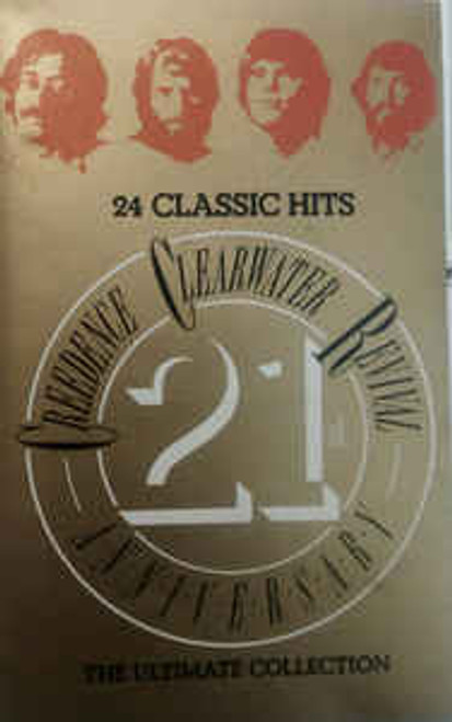 Creedence Clearwater Revival ‎– 24 Classic Hits - Creedence Clearwater Revival 21st Anniversary - The Ultimate Collection ‎ - TC *USED*