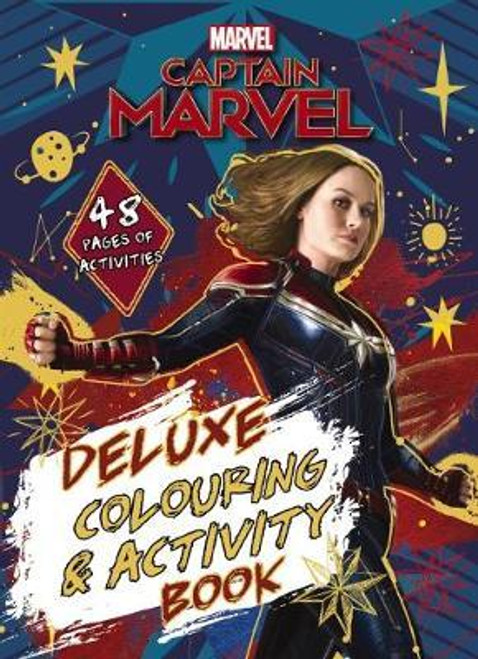Marvel: Captain Marvel Deluxe Colouring and Activity Book - Book *NEW*