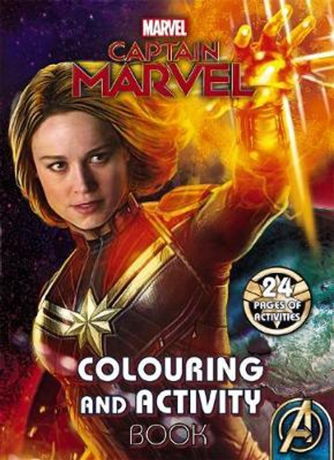 Marvel: Captain Marvel Colouring and Activity Book - BOOK *NEW*