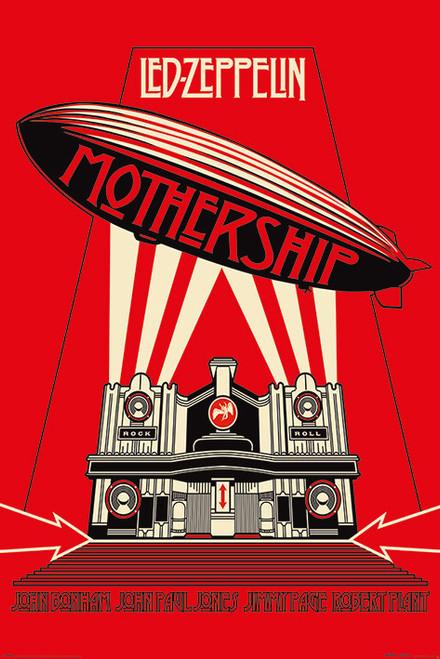 Led Zeppelin - Mothership - MAXI POSTER FRAMED *NEW*