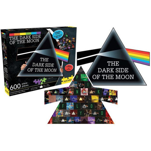 Pink Floyd: Dark Side Collage & Prism 600pc Double Sided Puzzle