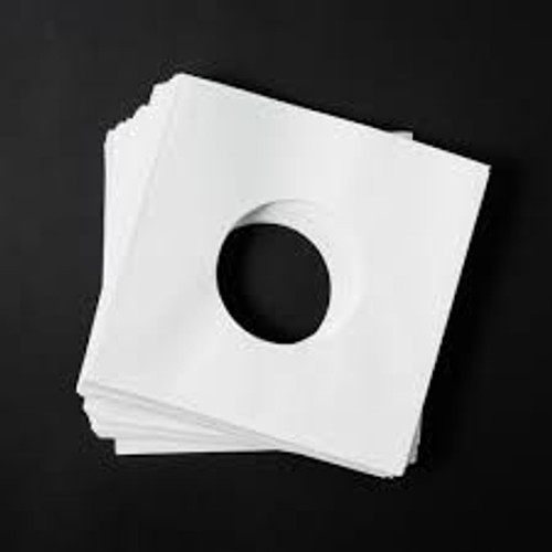 Outer Sleeves Paper 7″ PK25 WHITE *NEW*