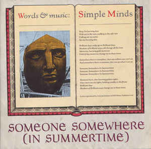"""Simple Minds – Someone Somewhere (In Summertime) (UK) - 7"""" *USED*"""