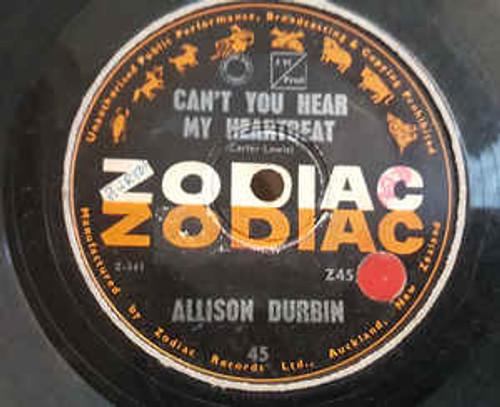 Allison Durbin – Can't You Hear My Heartbeat (NZ) - 7' *USED*