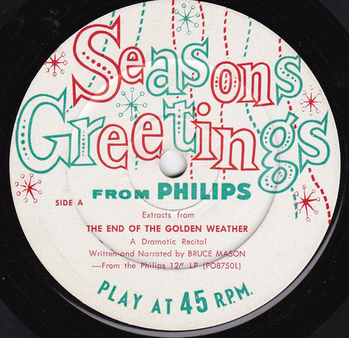 "Bruce Mason (2) ‎– Season Greetings From Philips (NZ) - 7"" *USED*"