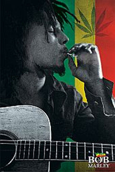 Bob Marley Smoking - POSTER *NEW*