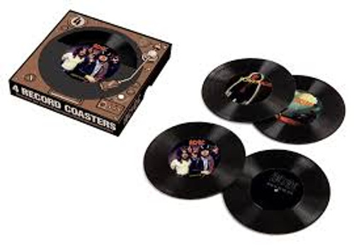AC/DC _ 45 Record Coasters - 4PK *NEW*
