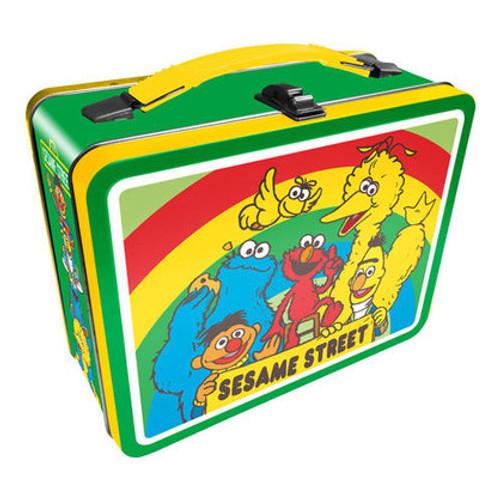 Sesame Street Cast Tin Fun Box 8NEW*
