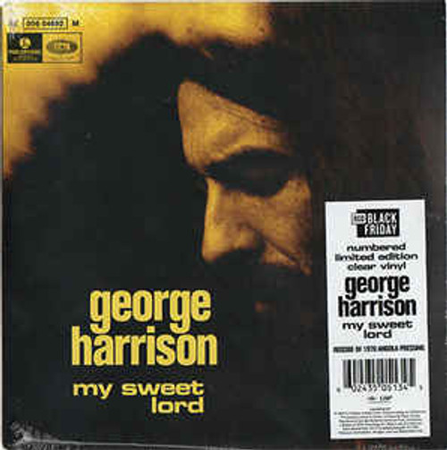 "George Harrison ‎– My Sweet Lord (Clear Vinyl) - 7"" *NEW* RSD BF 2020 - Sold Out"