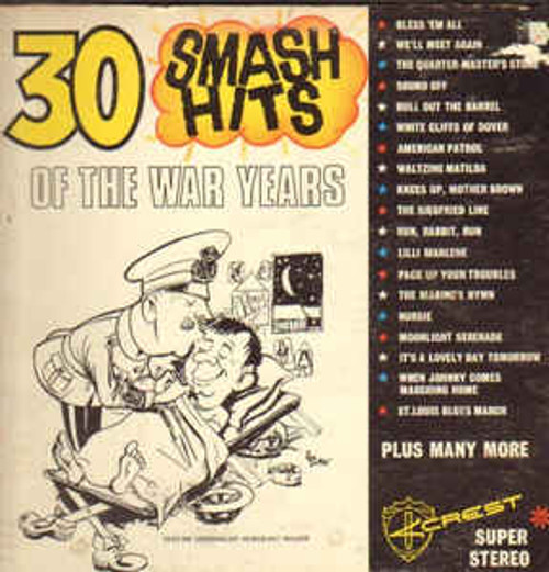 Concert Band* & Chorus Of The R.A.A.F. ‎– 30 Smash Hits Of The War Years - LP *USED*