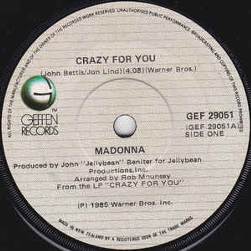 Madonna – Crazy For You - 7' *USED*