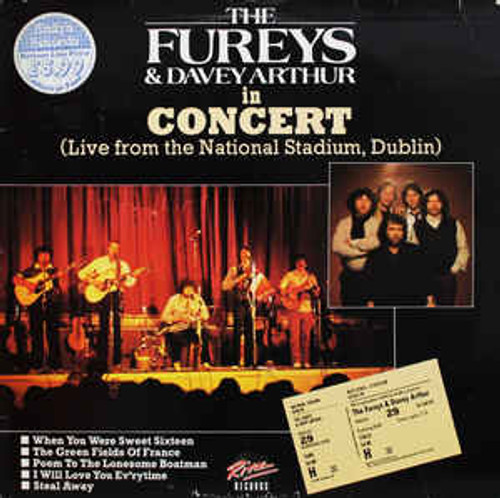 The Fureys & Davey Arthur ‎– The Fureys & Davey Arthur In Concert (Live From The National Stadium, Dublin) (UK) - LP *USED*