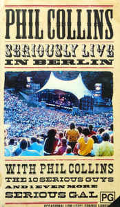 Phil Collins ‎– Seriously Live In Berlin - VHS *USED*