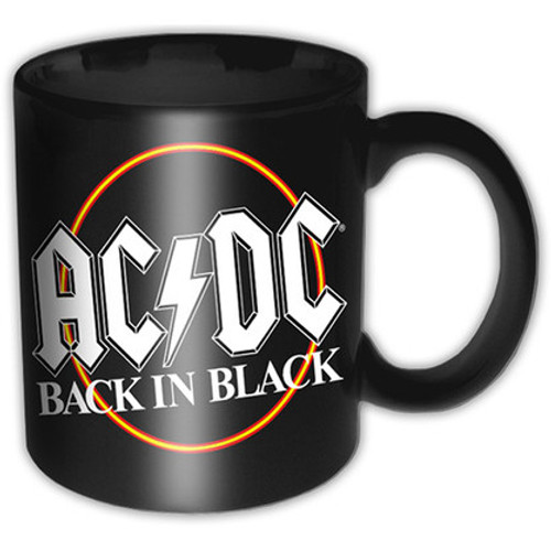AC/DC Boxed Standard Mug: Back in Black Circle - MUG *NEW*