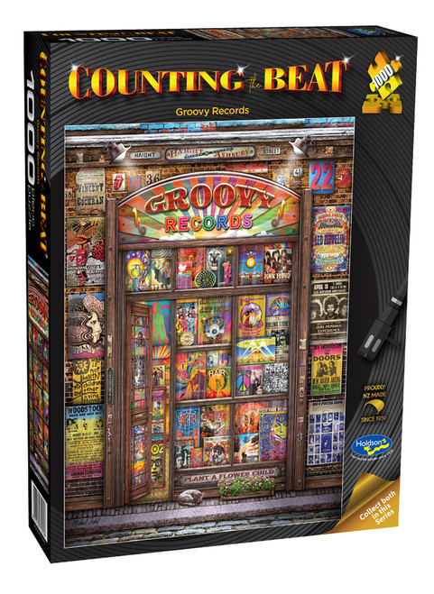 Counting The Beat (Groovy Records) 1000 Piece Puzzle *NEW*