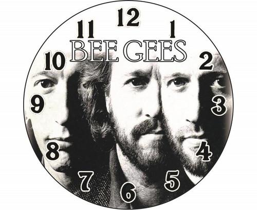 Bee Gees 30cm Round - CLOCK *NEW*