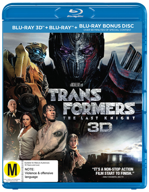 Transformers: The Last Knight 3D - 3BRD *NEW*
