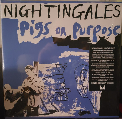 More images  The Nightingales – Pigs On Purpose (Blue Vinyl) - 2LP *NEW*