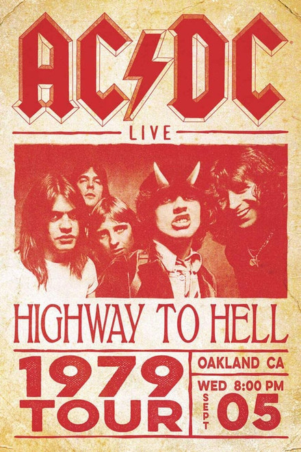 AC/DC Highway to Hell 1979 Tour - Poster #71 *NEW*