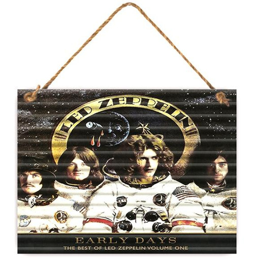 """Signs - Metal Sign Corrugated Led Zeppelin """"Early Days"""" 30cm x 40cm *NEW*"""
