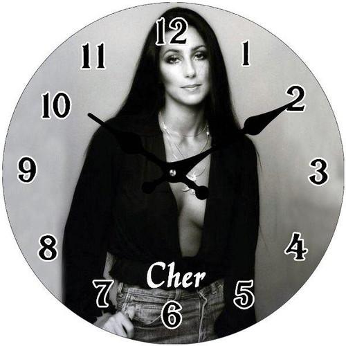 "Clock - Cher ""Black & White"" 17cm"