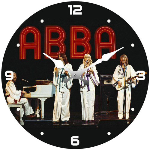 Clock - ABBA 17cm Round *NEW*