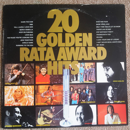 20 Golden Rata Award Hits (NZ) - Various - LP *USED*