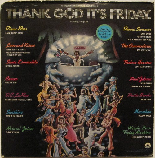Thank God It's Friday (The Original Motion Picture Soundtrack) (NZ) - Soundtrack - 3LP *USED*