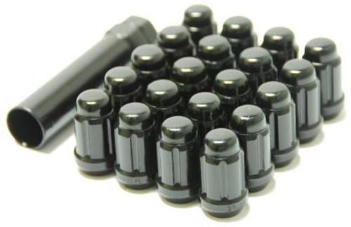 Muteki Closed End Lug Nuts - Deep Black 12x1.50