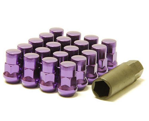 Muteki SR35 Closed End Lug Nuts w/ Lock Set - Purple