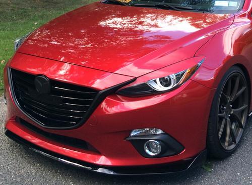 """TITAN"" Headlight armor eyelid fits 2014, 2015, 2016 Mazda3 hatchback / sedan"