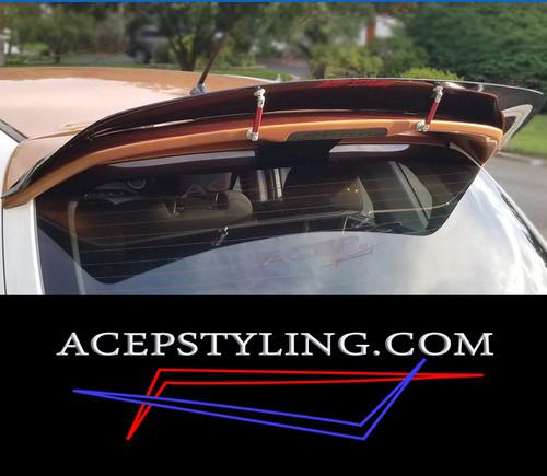 "ACEP ""Skylark"" spoiler/wing extension fits 07-09 Mazdaspeed & 04-09 Mazda3 Hatch"