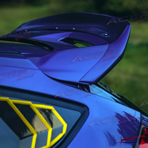 """ACEP """"WINGHAMMER"""" ducktail spoiler wing extension fits 13-18 Focus ST"""