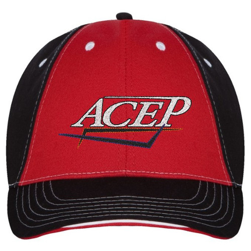 ACEPSTYLING hat cap Red/Black Logo front