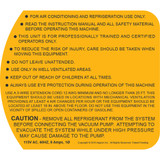 TEZ8 115v Warning Label (TEZOM Side)