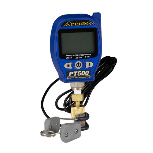 Compound 29inHg to 500 psi Wireless Pressure and Temperature Gauge
