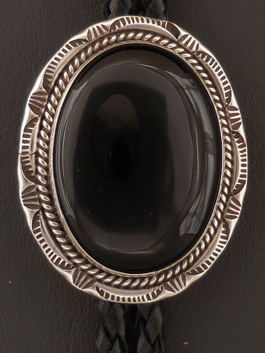 Authentic Navajo Handmade Silver Bolo by Arnold Goodluck