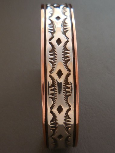 Native American Copper and Sterling Silver Bracelet