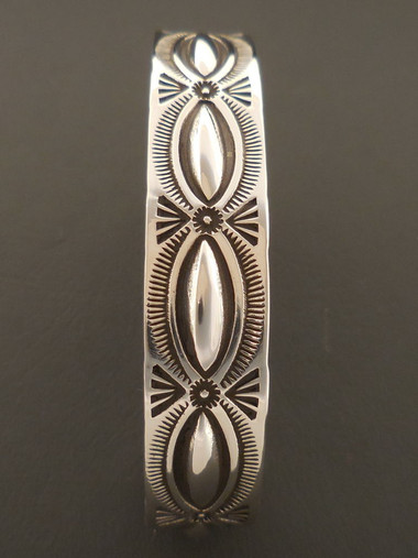 Authentic Native American Handmade Repousse Bracelet by Arnold and Karlene Goodluck