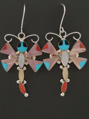 Authentic Zuni Handmade Dangle Earrings