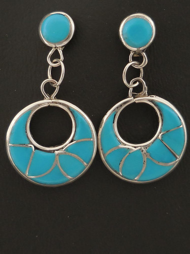 Authentic Zuni Inlay Earrings