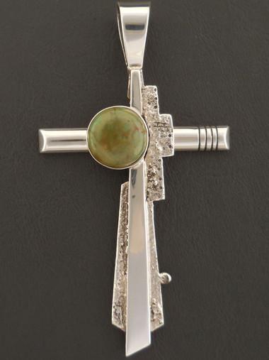 Leroy Begay Pueblo Style Cross Pendant Authentic Native American