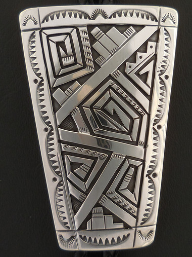 Navajo Handmade Silver Bolo Tie