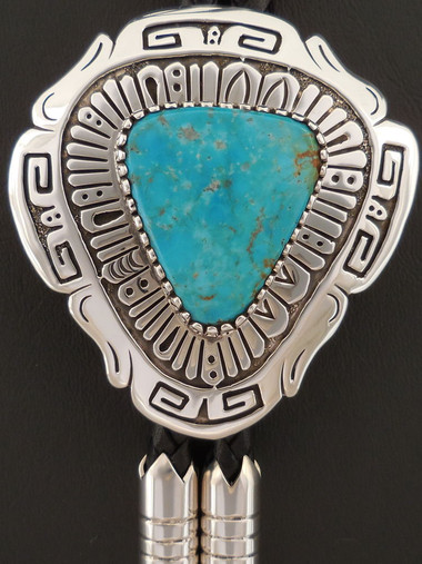 Authentic Navajo Turquoise Bolo by Sam Gray