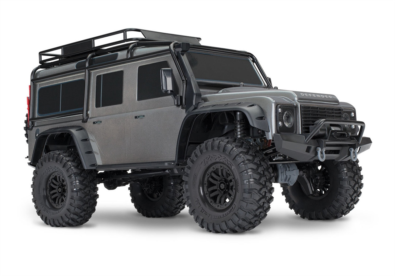 Traxxas 82056-4 TRX-4 1/10 Scale Trail Rock Crawler w/Land Rover Defender  Body (Silver)